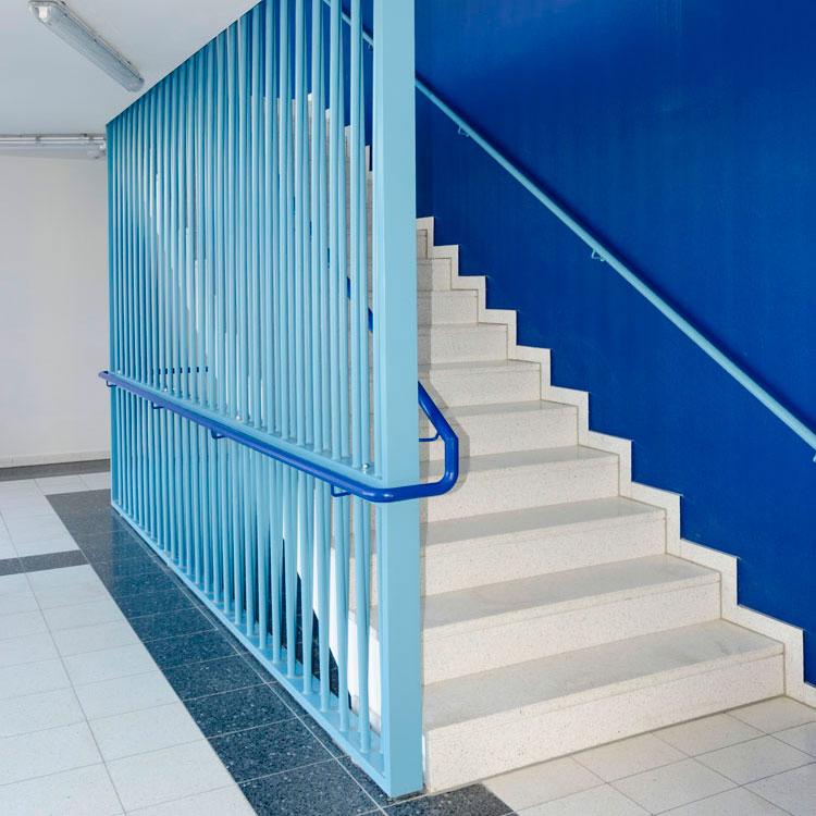 Treppengeländer in Stahl- und Glas-Edelstahlausführung